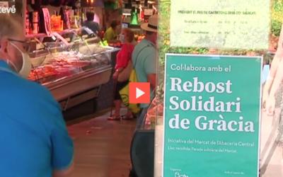 Betevé: La col·laboració del Mercat de l'Abaceria amb el Rebost Solidari de Gràcia.